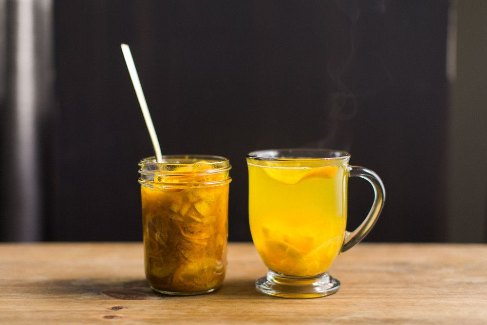Cold Remedy Tea Turmeric Ginger Citrus Honey Honeysuckle