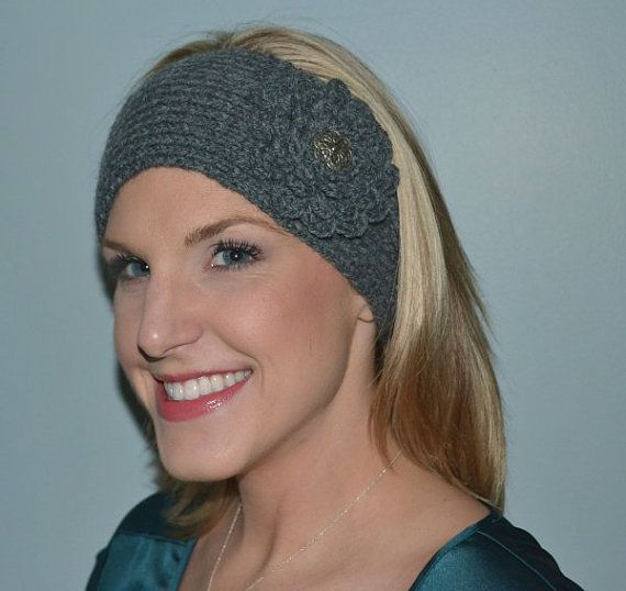Hand Knit  Lambs Wool and Acrylic Headband / by BarbooCreations - $23