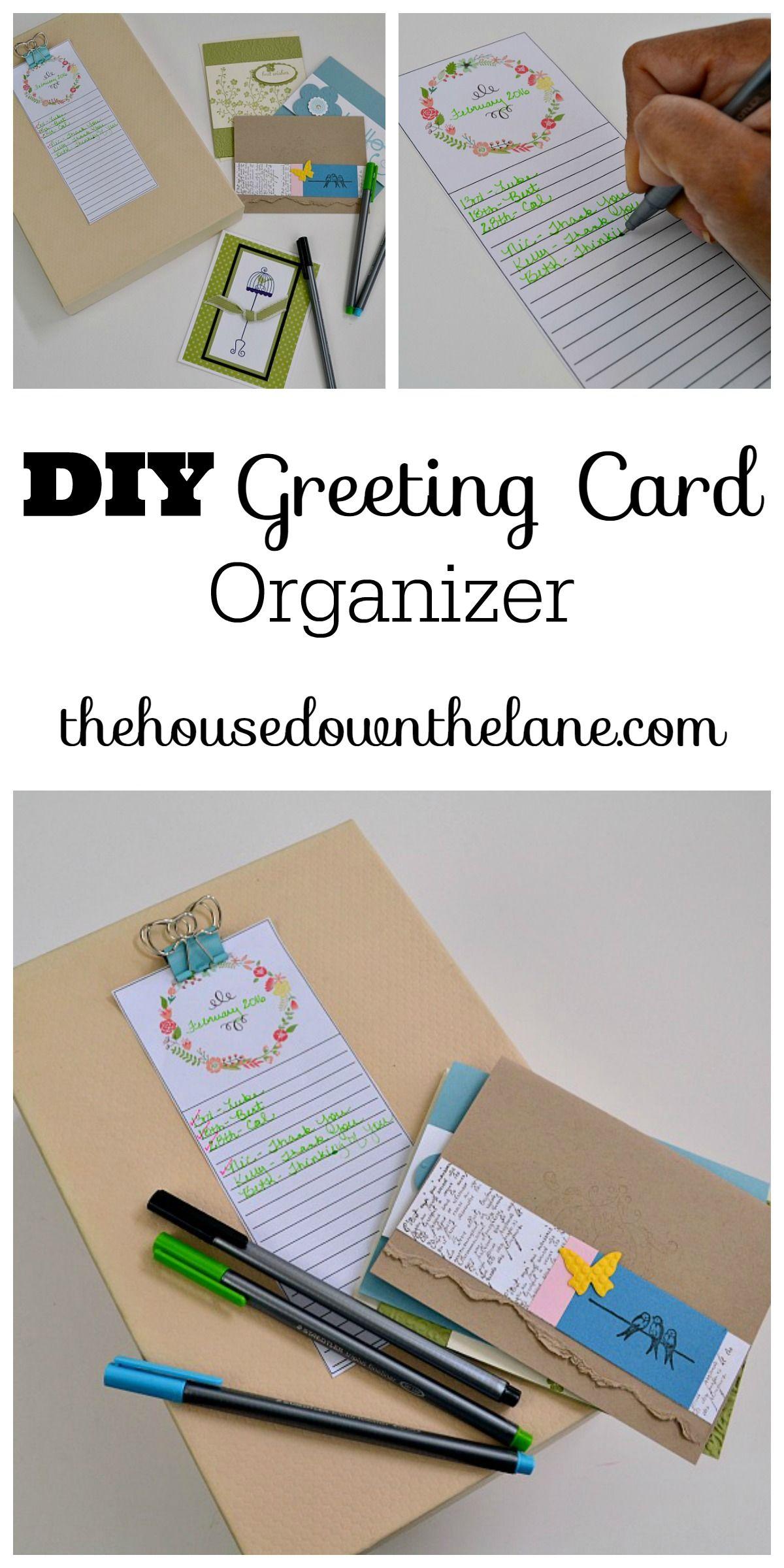 Diy Greeting Card Organizer Calyx Corolla Greeting Cards Diy Greeting Card Organizer Card Organizer
