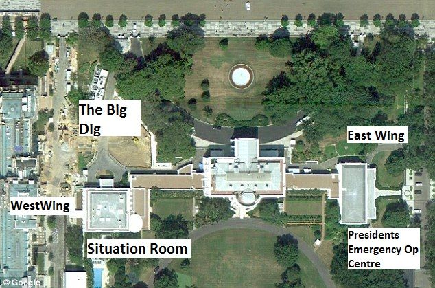 What lies beneath the white house lawns white houses for How much rooms does the white house have