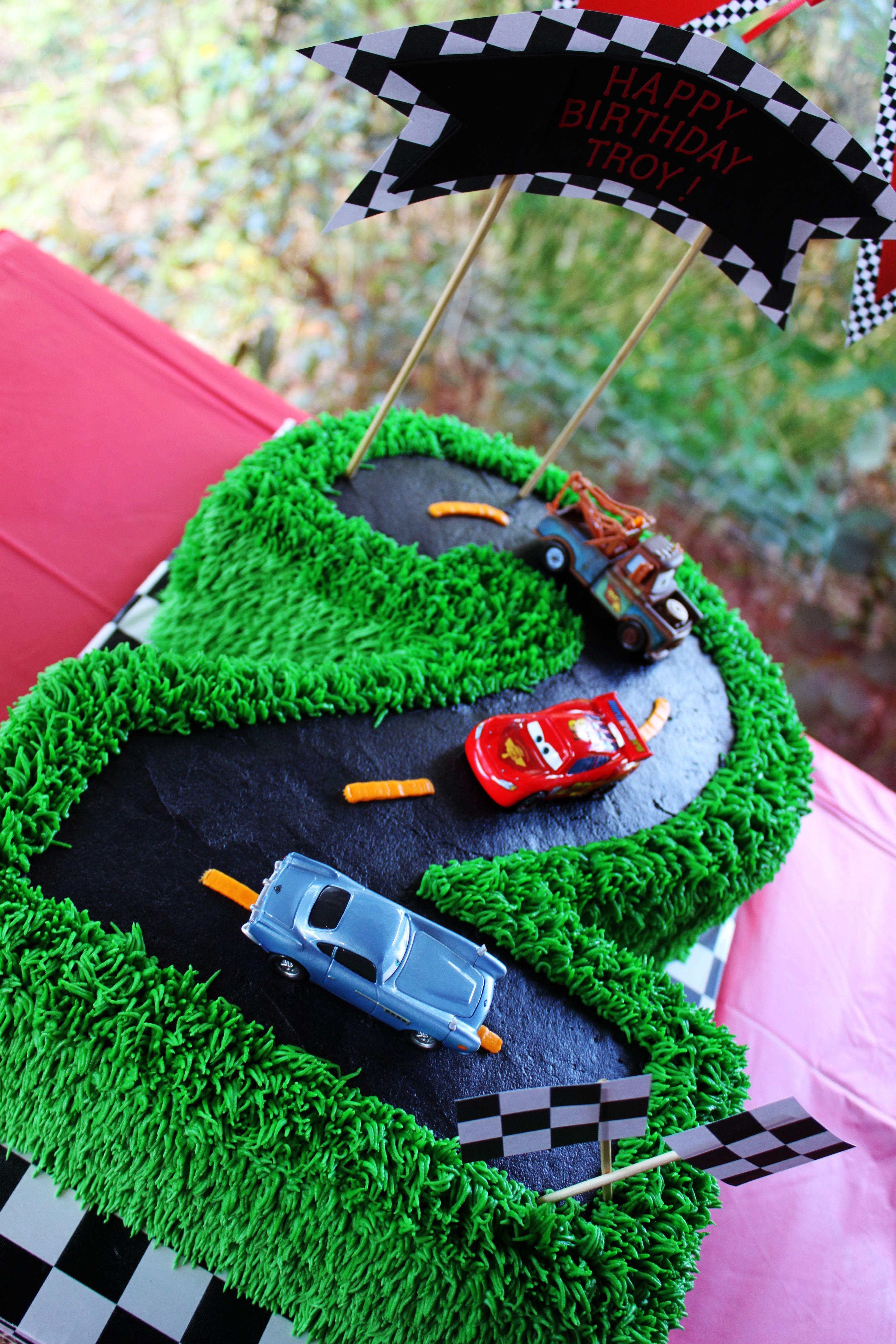 Best birthday cake ever peanut 39 s car theme birthday for How to make the best birthday cake ever