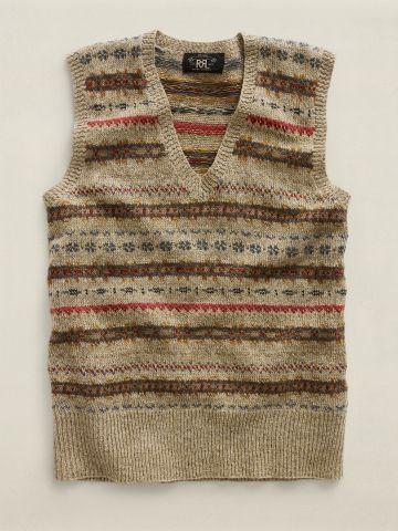 Fair Isle V-Neck Sweater Vest - RRL Sale - RalphLauren.com ...