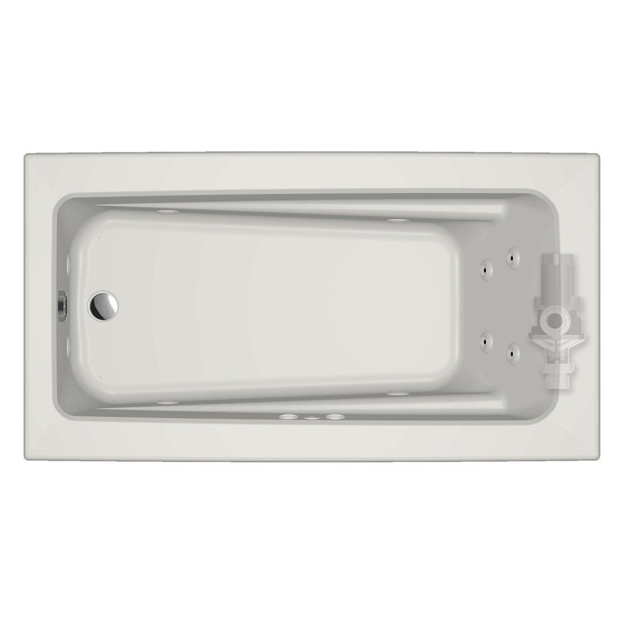 Jacuzzi P1D6032WLR1XX Primo Acrylic Rectangular Whirlpool Tub ...