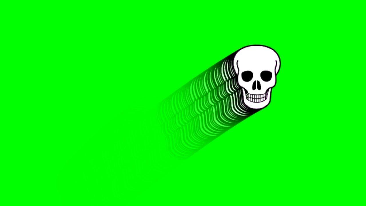 Floating Skull Green Screen Effect Green Screen Video Backgrounds Greenscreen Free Green Screen