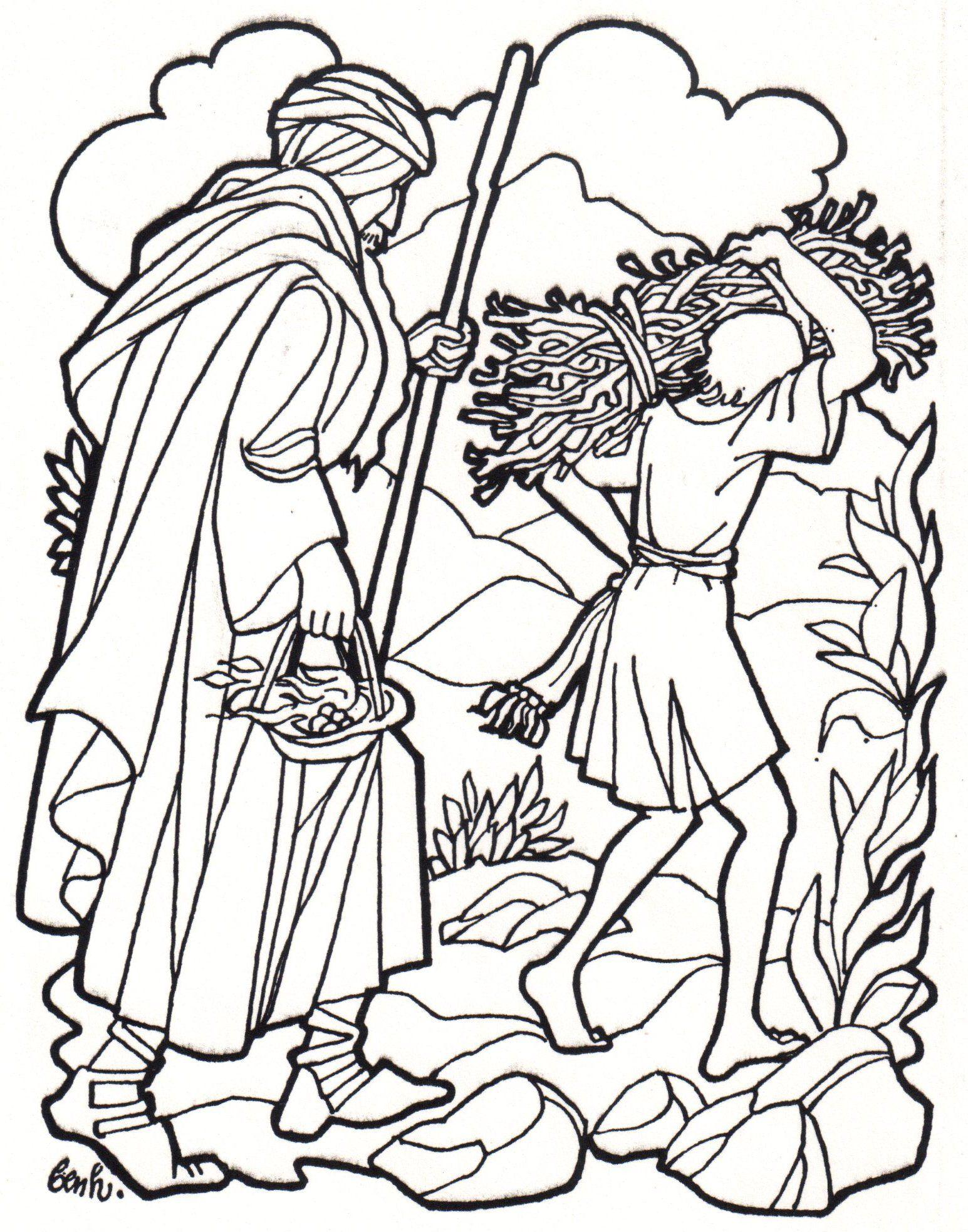 Abraham Sacrifice Coloring Page SundaySchoolist