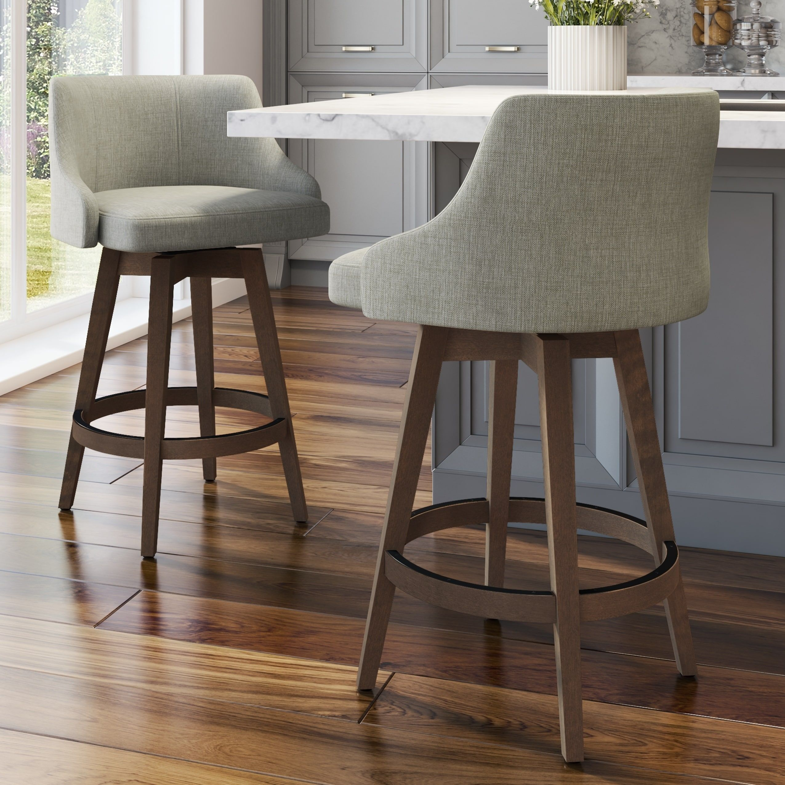 Carson Carrington Corbet Stool With Wood Base 26 Counter Height