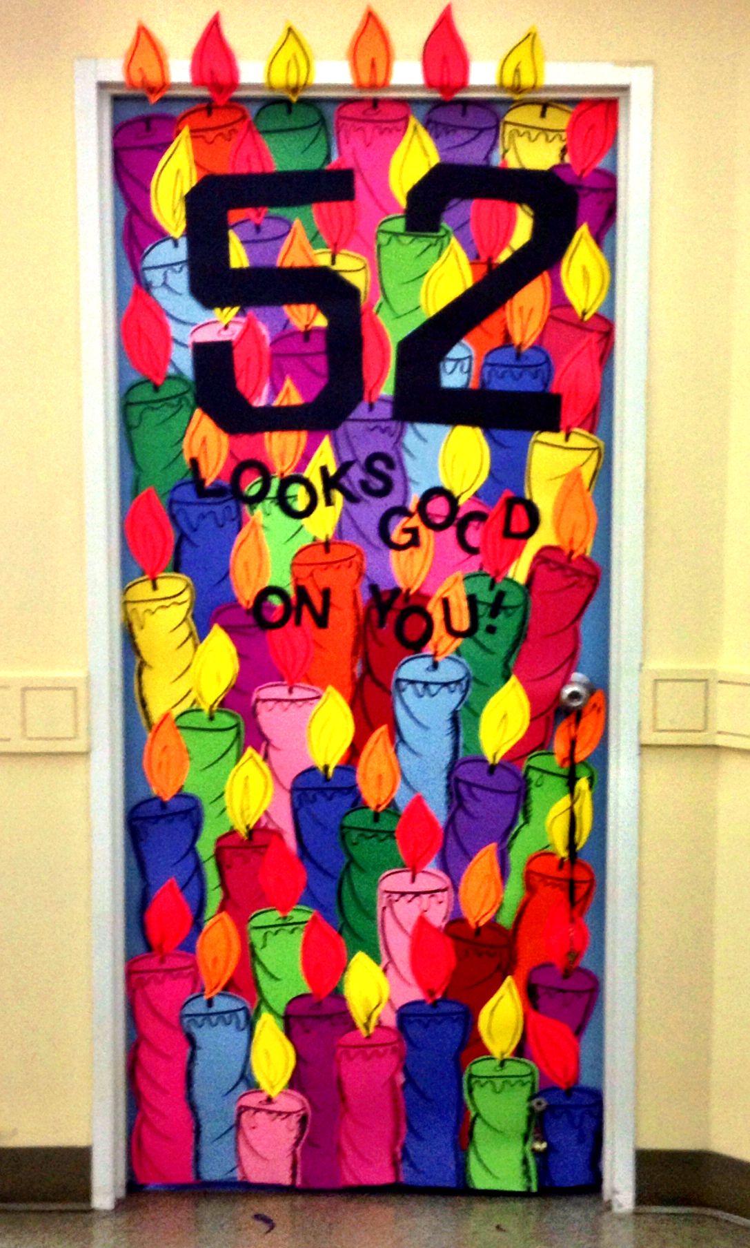 Birthday door decoration for boss | Haute glue momma ...