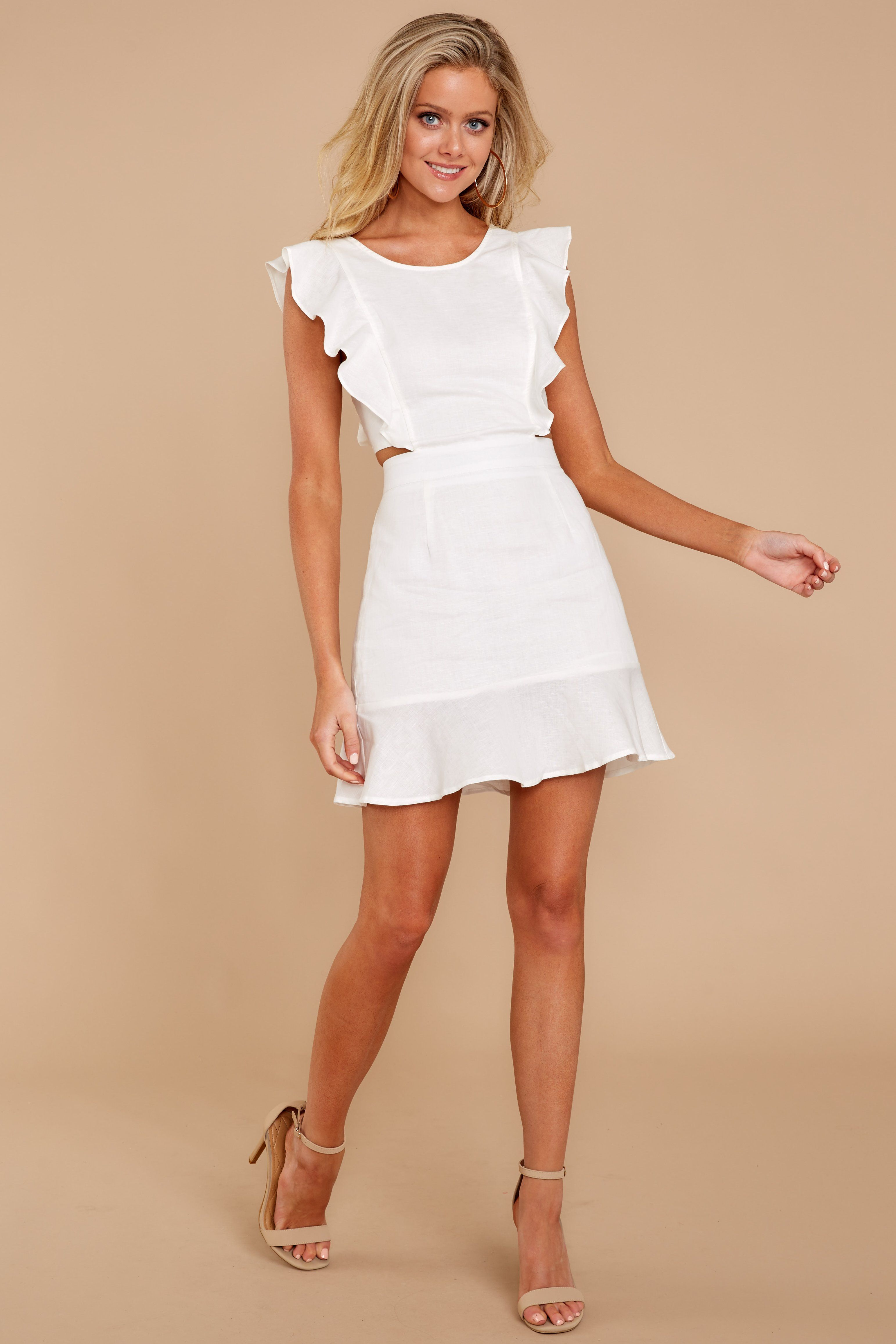 Adorable White Dress Chic 48 00 Red Boutique