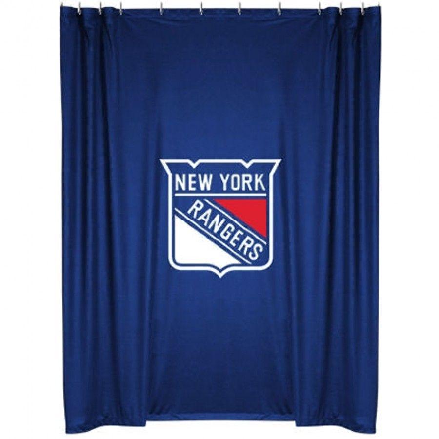 Sports Coverage New York Rangers Shower Curtain New York Rangers