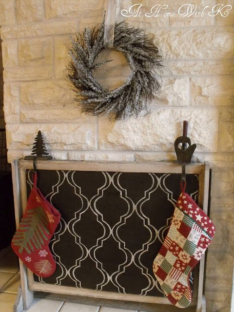Do it yourself fireplace cover for the summer for the - Ideas to cover fireplace opening ...
