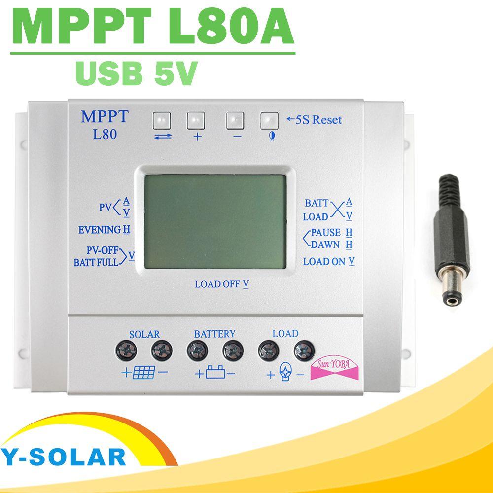10 A Mppt LCD Solaire Régulateur de Charge Photovoltaïque 12v//24v pour Panneau