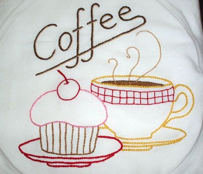 Charming Embroidered Dish Towel U2013 Class Project Sample Part 9
