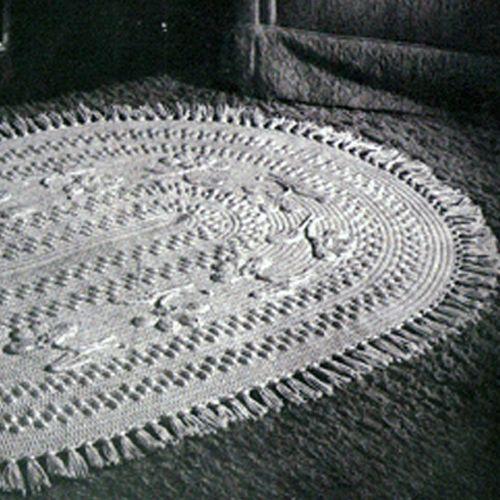 Large Oval Rug Crochet Pdf Pattern Floral Motif Crochet Rug