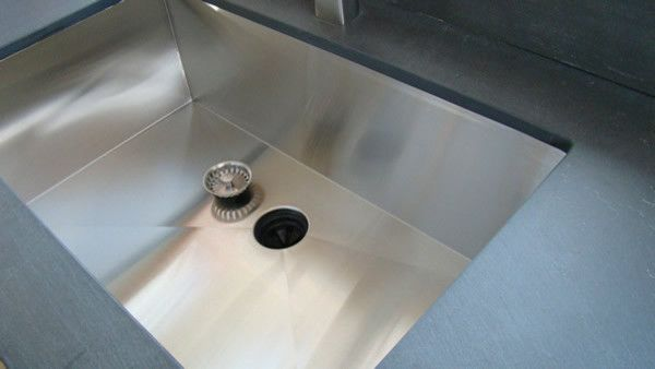 Superior Zero Radius Seamless Undermount Kitchen Sink Contemporary Kitchen Sinks