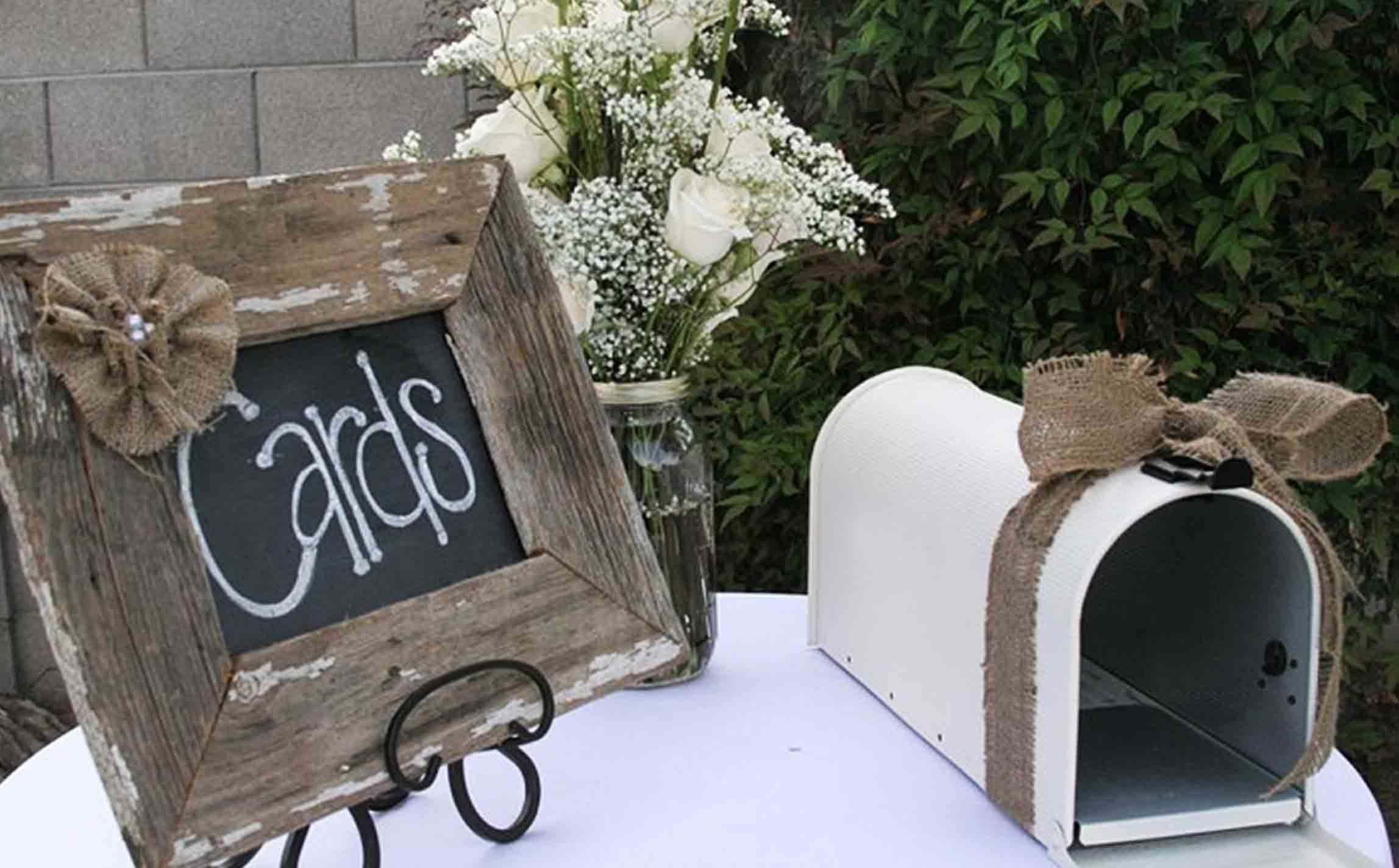 The Best Wedding Table Gift Card Holders | Burlap, Grad parties and ...