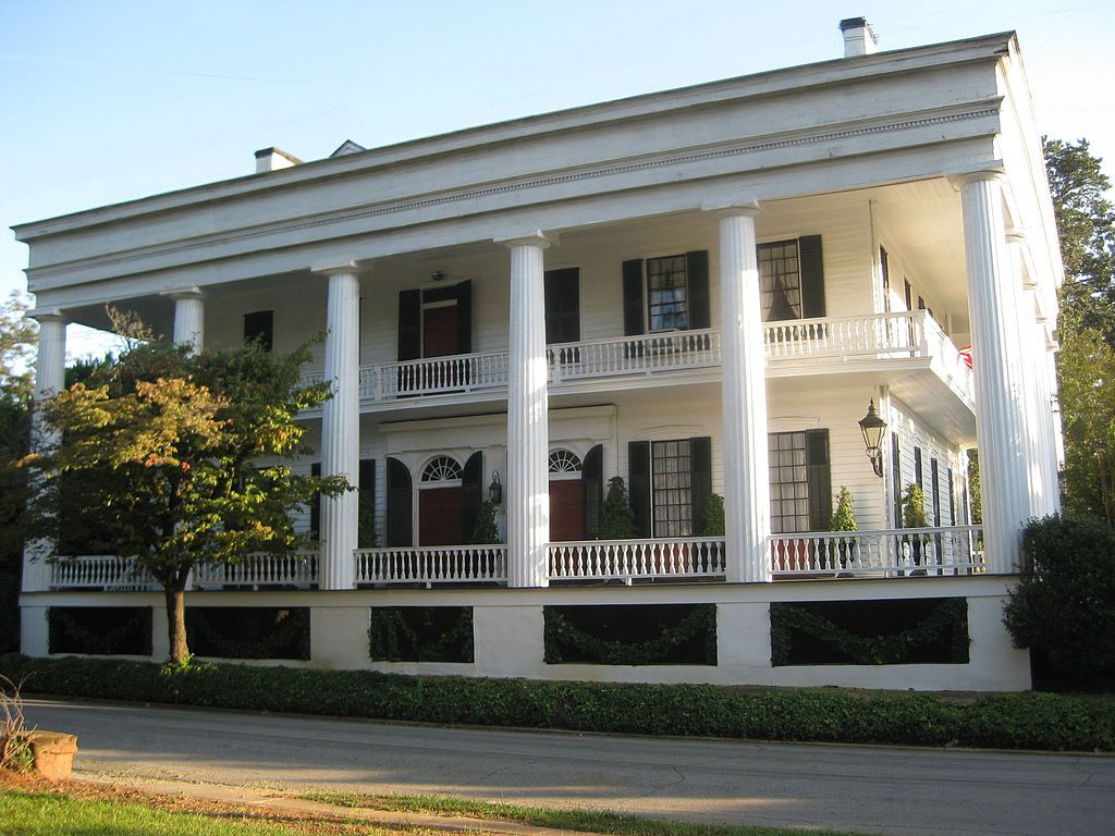 Campbell-Jordan House is a historic residence in Washington, Georgia. The Federal architecture-style home was built in 1787 & underwent a Greek Revival architecture-style makeover in 1841, including the addition of large columns. The original cottage was built by William Stith after 1787 & was bought in 1807 by Duncan Campbell who enlarged it. The western part of the structure was likely built by Judge Albert Gallatin Semmes. In 1841, Aaron A. Cleveland added the colonnade.