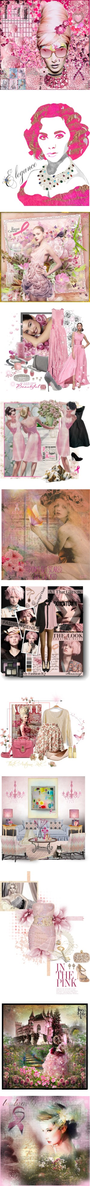"""Winners' Showcase: The Write Stuff ""Just Make it Pink"""" by justjules2332 ❤ liked on Polyvore"