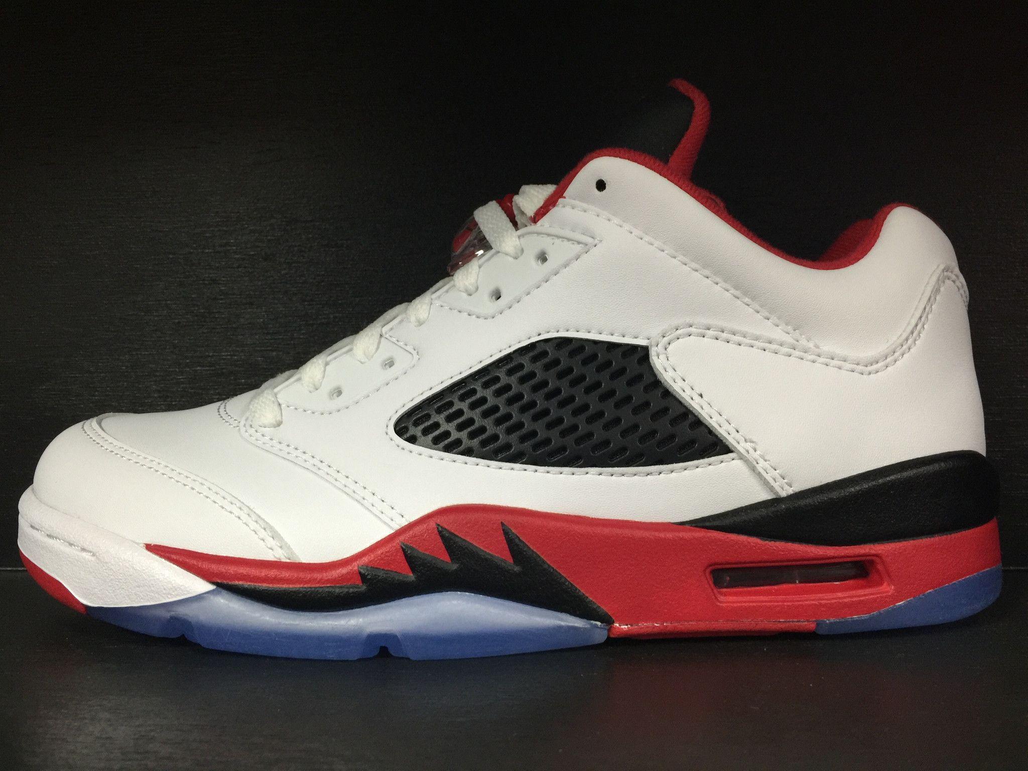 size 40 b5a27 28749 Air Jordan 5 Retro Low  Fire Red