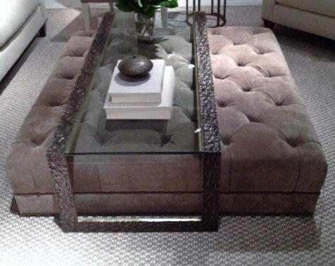 custom made ottoman for corenu003d beautiful briana square linen tufted ottoman 48x48x8 no legs