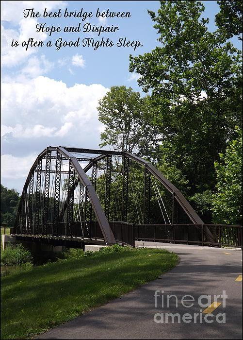 Hope and Dispair by Sara Raber #Inspiration #art #HomeDecor #Motivational #FAA #ArtForSale #bridge #paths