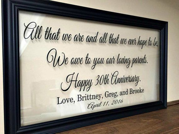 Gifts For 45th Wedding Anniversary: Anniversary Gift For Parents, 50th Anniversary Gifts, 50th