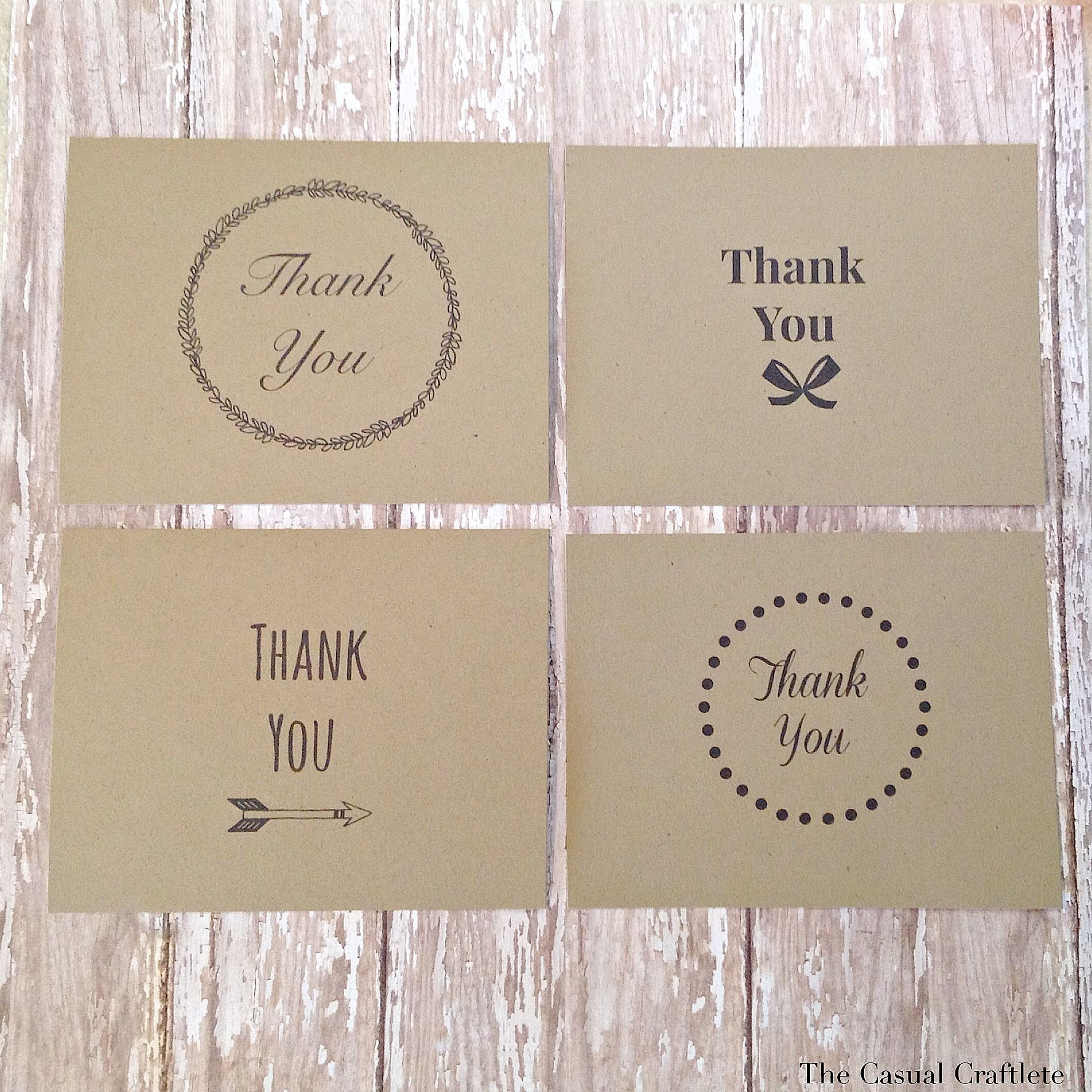 Free Printable Thank You Cards – Thank You Card Templates Free Download