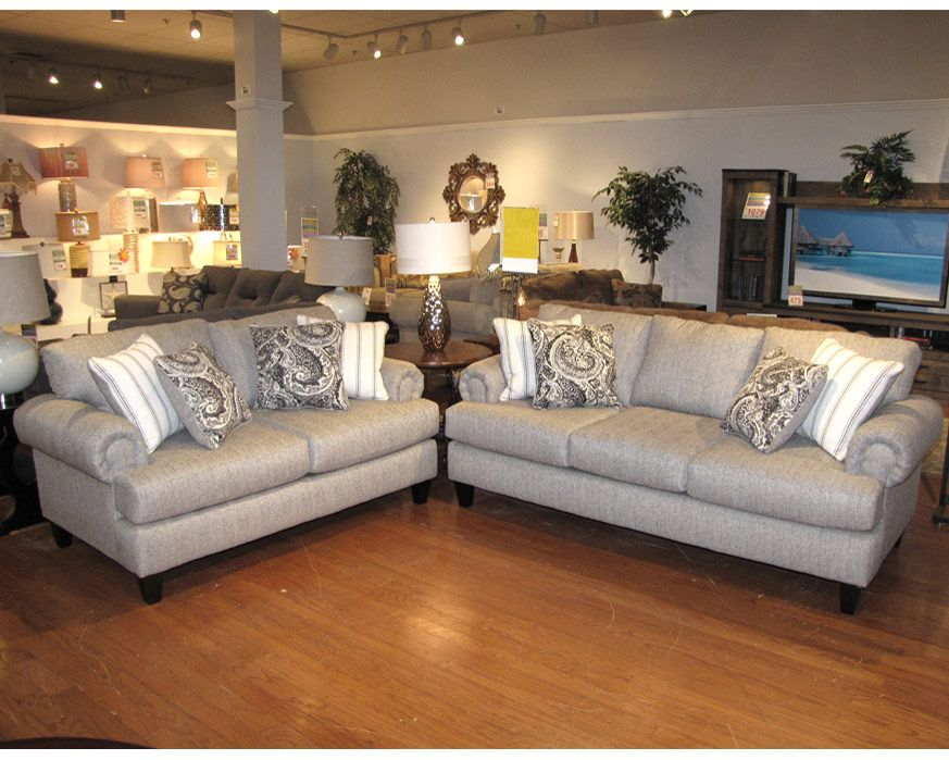 Sofa Loveseat Set 2790 Bp Sl Beta Pewter Furniture Factory Direct