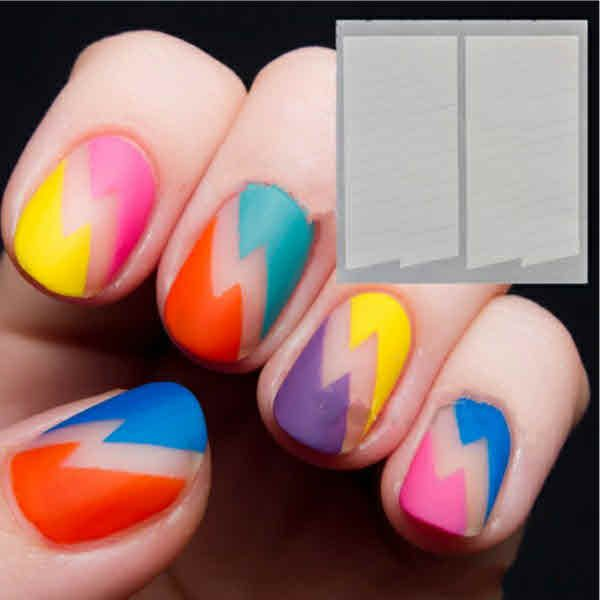 1 Sheet 2 Patterns Creative French Manicure Stripe Edge Tips $2.52 + ...