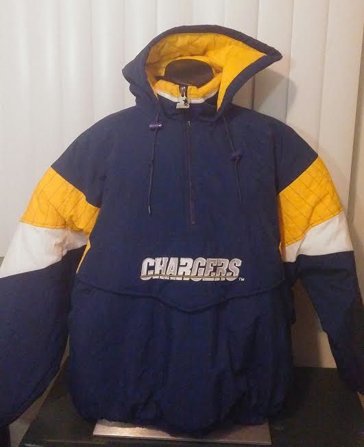premium selection 00942 1faff Vtg 90s Starter Jacket San Diego Chargers hooded pullover ...