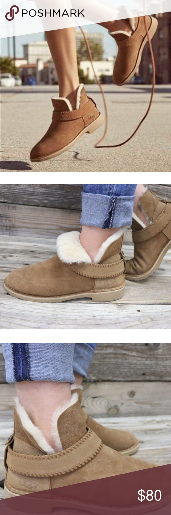 4ffb4ad7a77 UGG McKay Chestnut Sheepskin Ankle Boots NEW 🌈 New without box ...