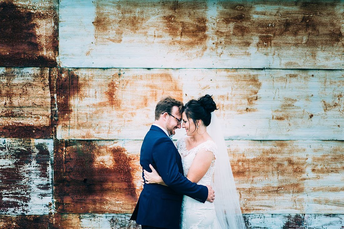 Beautiful old rustic shed backdrop for these two lovebirds in Gippsland Victoria.