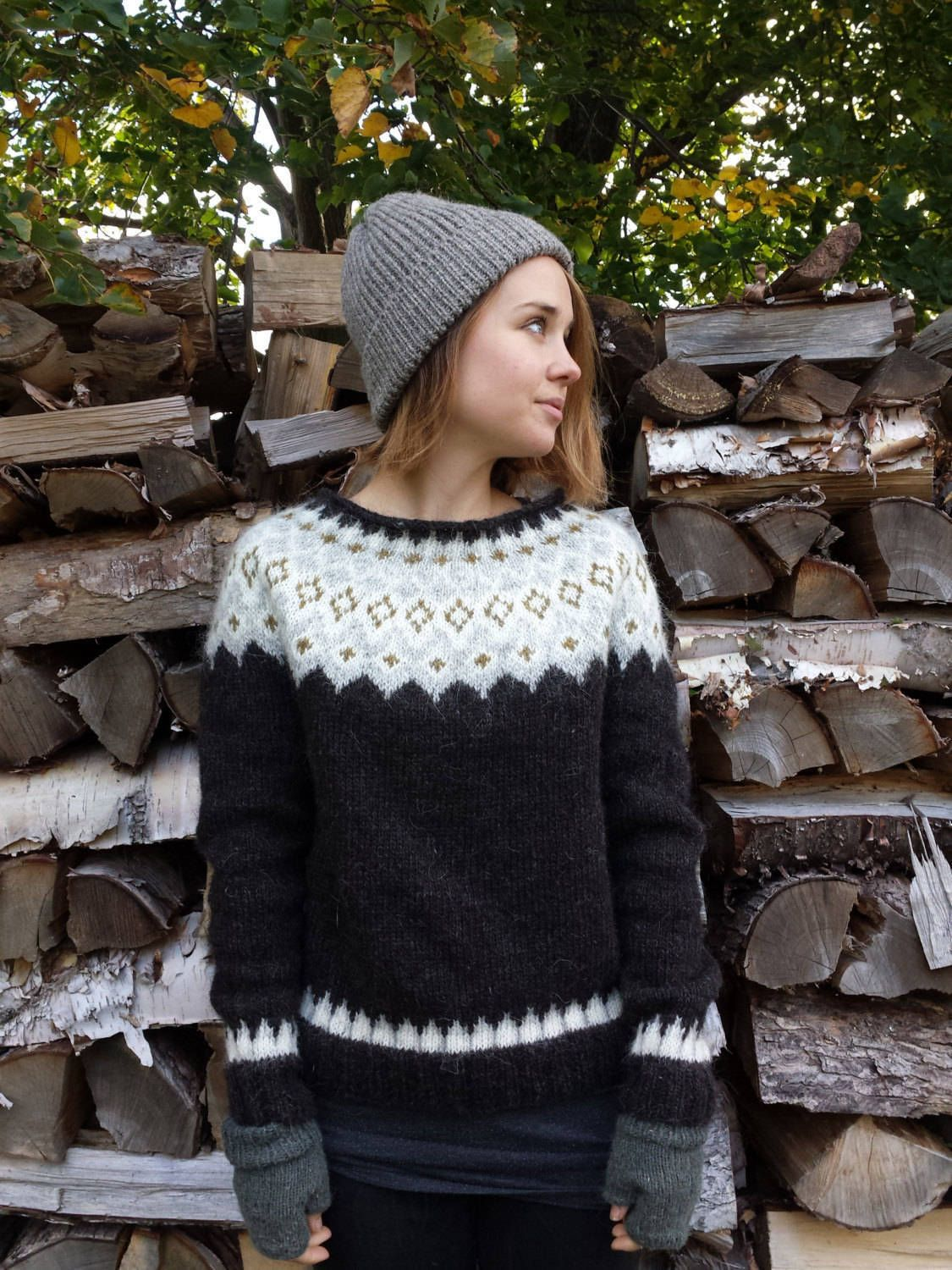 Reserved for Floriane, Icelandic Sweater / Lopapeysa Hand Knit in ...