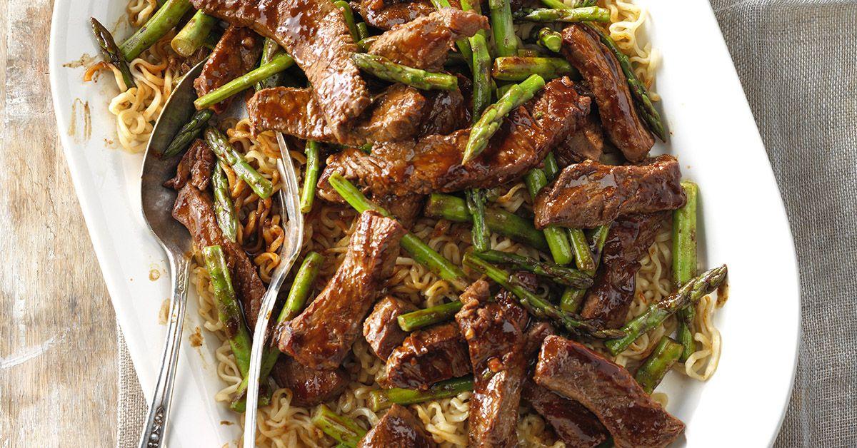 Asparagus beef lo mein recipe beef lo mein recipe
