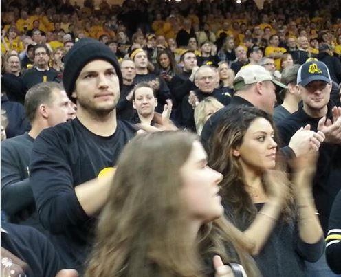 Ashton Kutcher And Mila Kunis Enjoyed The Iowa Penn State