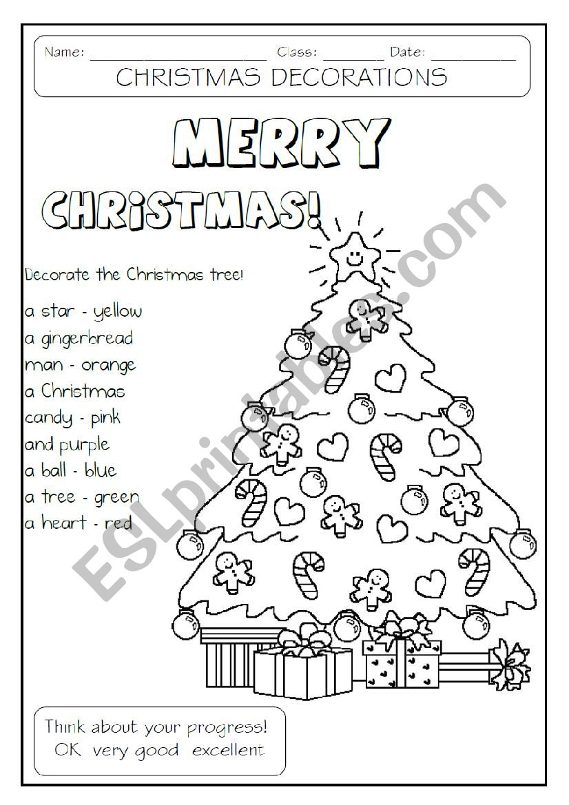 Decorate The Christmas Tree Worksheet Christmas Worksheets Unique Christmas Trees Colorful Christmas Tree