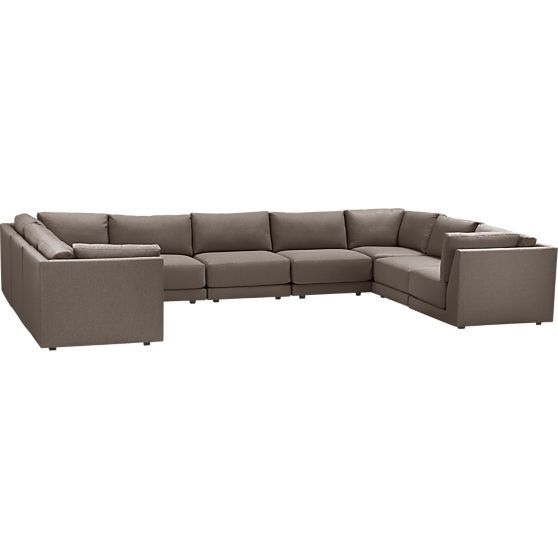 Moda 9 Piece Sectional Sofa In
