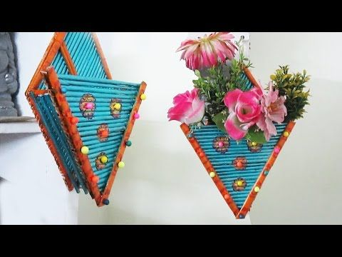 Newspaper Flower Vase Flower Pot Best Out Of Waste Diy Art With Creativity 187 Youtube Newspaper Crafts Diy Newspaper Diy Wall Hanging Flower