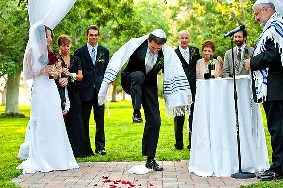 N A Jewish Wedding Tradition It Is Customary For The Groom To Break