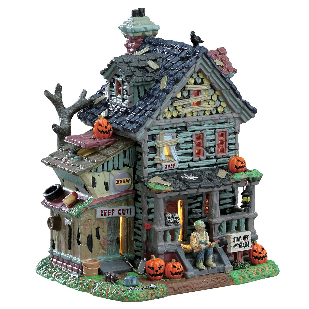lemax creepy neighborhood house. sku# 75185. released in 2017 as a