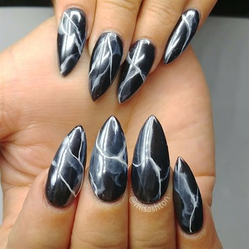 Smoke nails by misashton from nail art gallery marble lous nail smoke nails by misashton from nail art gallery prinsesfo Images