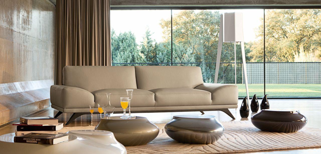 Living Room Inspiration 120 Modern Sofas By Roche Bobois: Upholstered In European TENDRESSE Leather, Corrected Grain