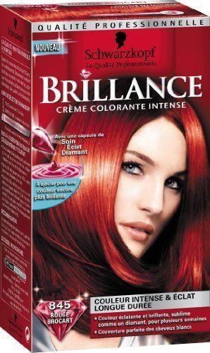 coloration schwarzkopf brillance intense n845 rouge brocart neuf - Coloration Rouge Schwarzkopf