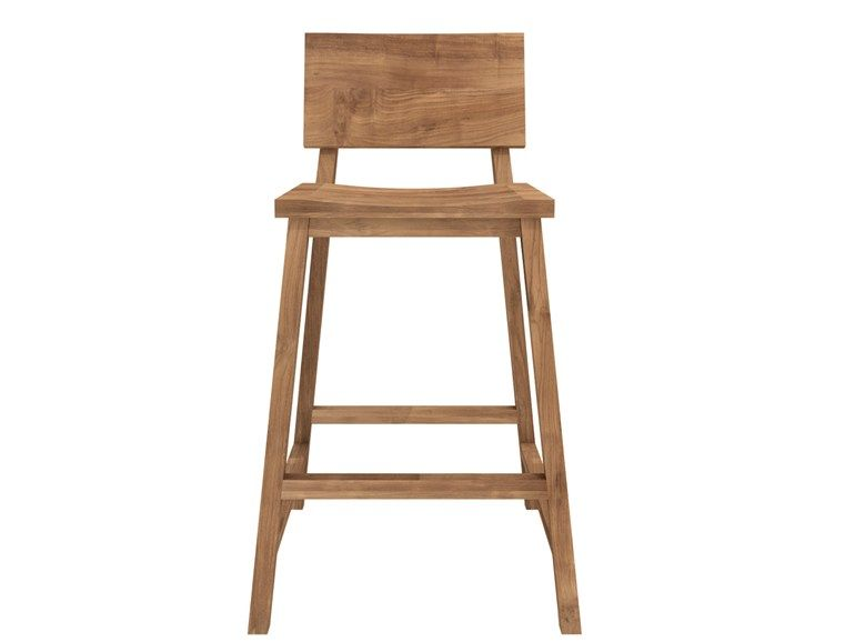 Teak N Chairs Counter Stool By Ethnicraft Counter Stools With Backs Kitchen Counter Stools Kitchen Stools With Back