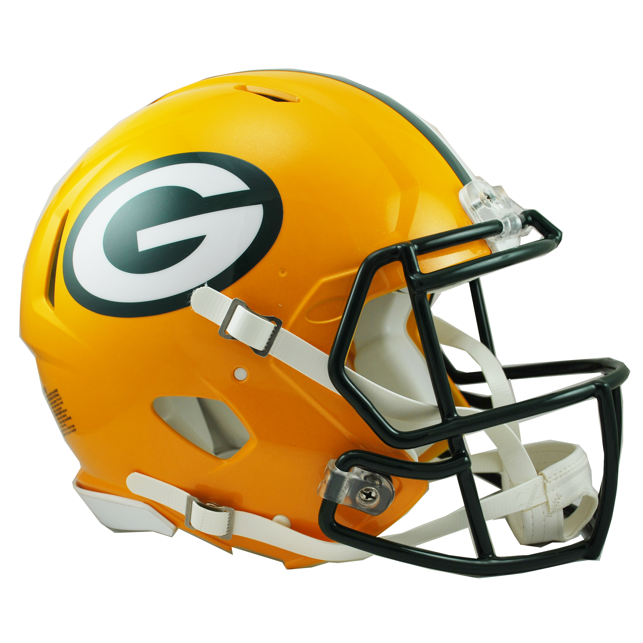 Green Bay Packers Revolution Speed Authentic Helmet Green Bay Packers Helmet Football Helmets Packers Football