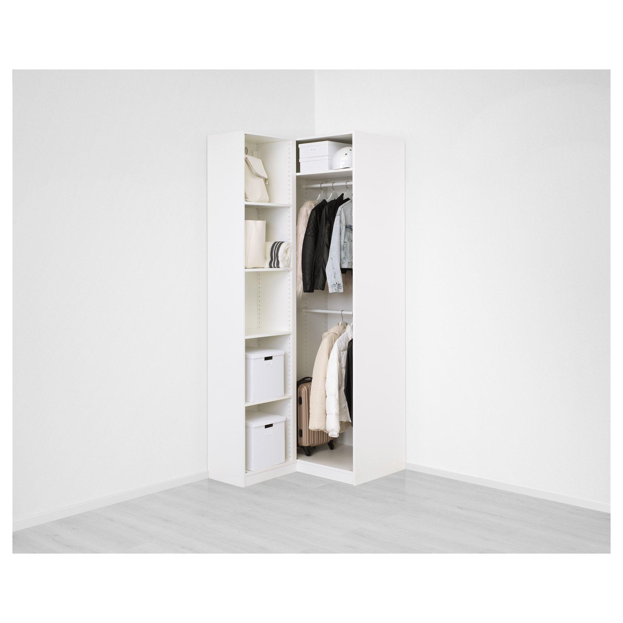 PAX Corner wardrobe white, Fardal Vikedal 43 1/2/34 5