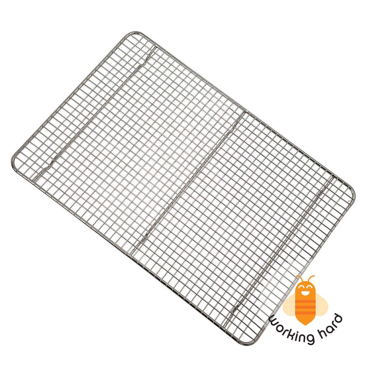 WIRE COOLING BAKING RACK Kitchen Sheet Pan 1/2 Size Cookie Biscuit ...