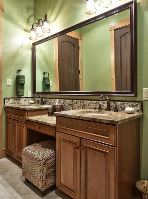 Rustic Bathroom Vanities Mountain Lodge Basement Bathroom