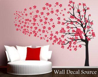 Stickers Da Muro.Cherry Blossom Tree Decalcomanie Da Muro Sticker Da Parete