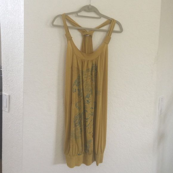 Replay Tunic Dress Little Yellow Dress with Light Blue Details. Replay Dresses Mini