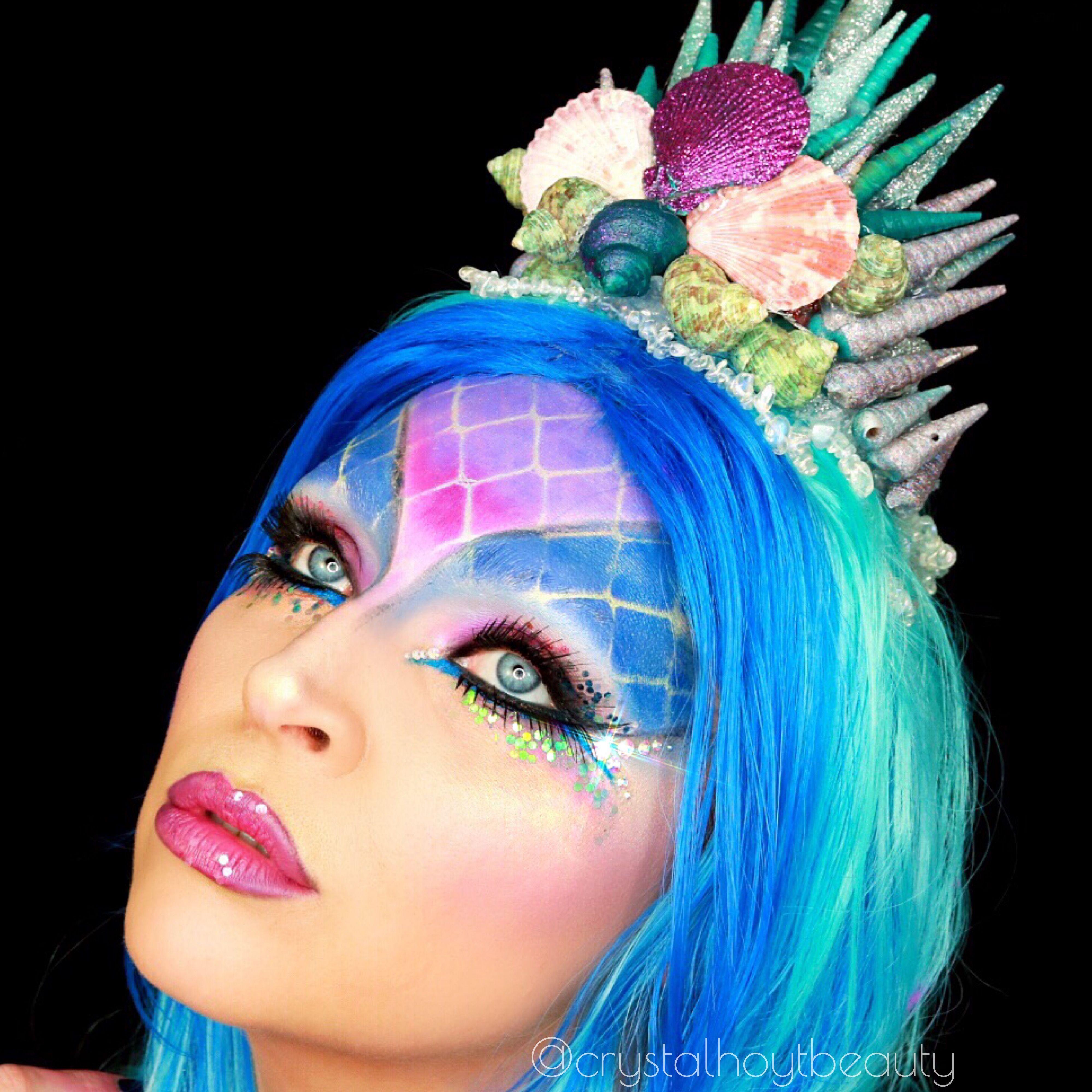 Mermaid Makeup Tutorial Glitter Mermaid Makeup Stunning Mermaid Halloween Costume How To Apply Mer Mermaid Makeup Tutorial Mermaid Makeup Makeup Tutorial